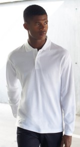 Fruit Of The Loom 100% Cotton Premium Long Sleeve Pique Polo